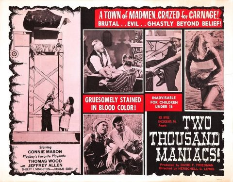 『2000人の狂人』(1964) - Two Thousand Maniacs! –